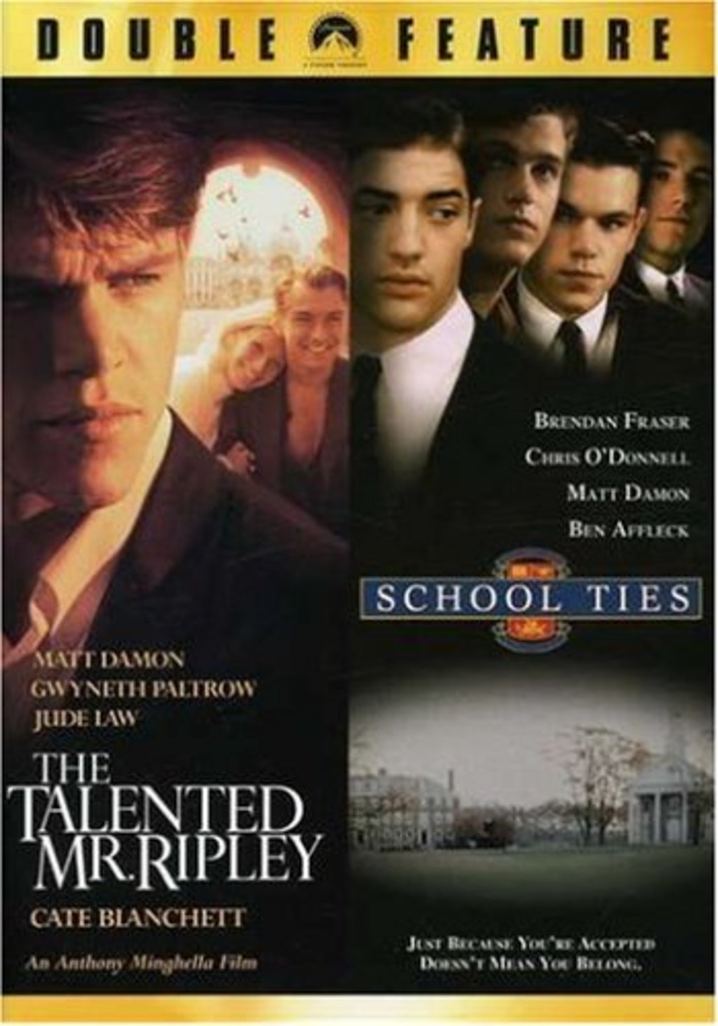 a review of the movie school ties School ties directed by: robert mandel starring: chris o'donnell, matt damon, brendan fraser genres: drama, coming-of-age rated the #175 best film of 1992.