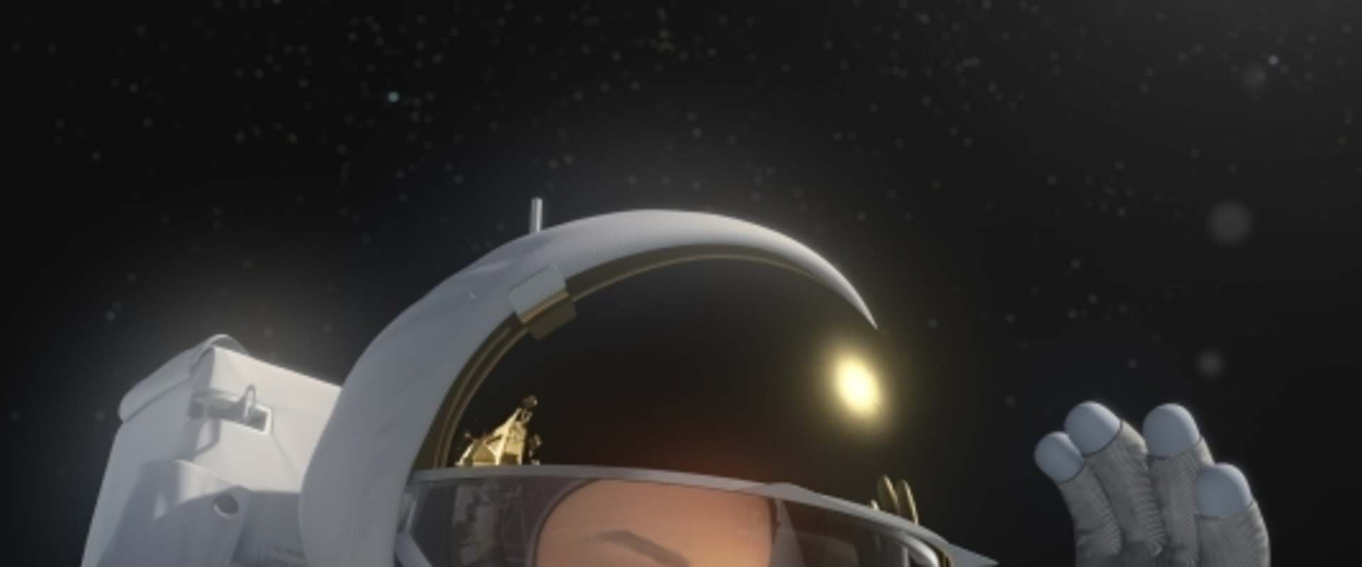 Fly Me to the Moon 3D background 2