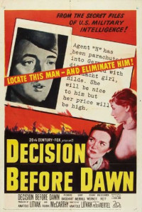 Decision Before Dawn Poster 1